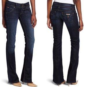 Hudson Dark wash signature boot cut jeans